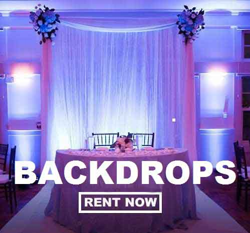 Backdrop Rentals! Just $89 for the complete backdrop kit plus FREE shipping  nationwide with www.RentMyWedding.com