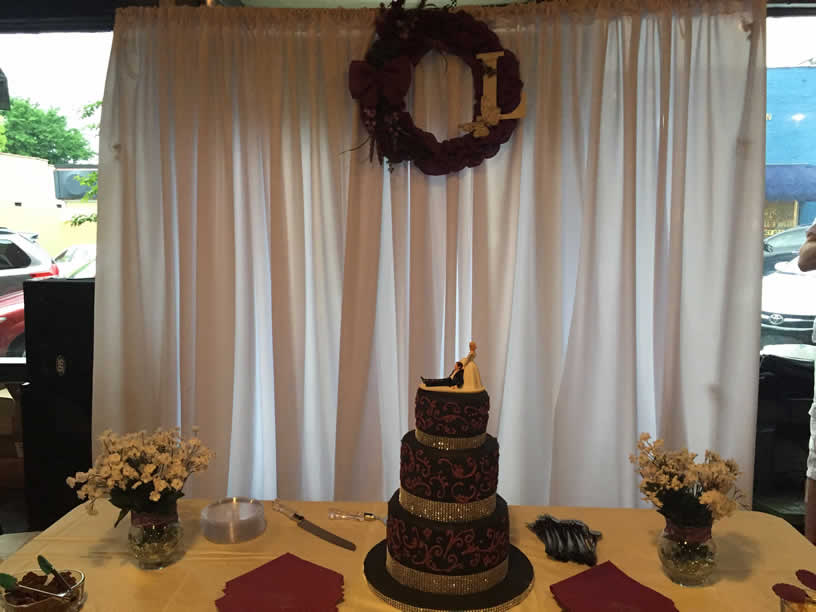wedding cake backdrop backdrop rentals with free shipping nationwide for 21773