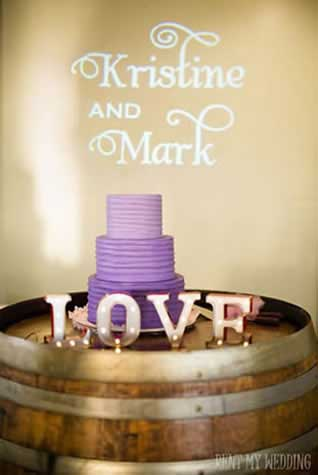 Wedding Cake Monogram Light || FREE shipping nationwide with Rent My Wedding.  Easy DIY setup for all rentals.