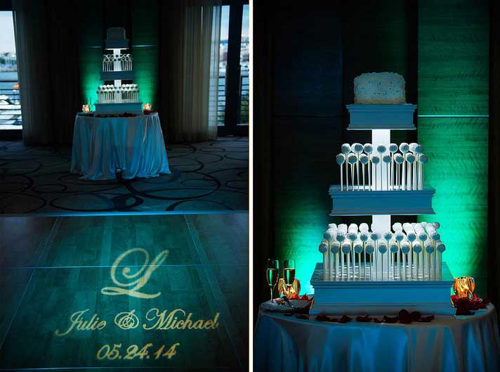 Emerald Green Uplighting for Accent Lighting | Rent online for $19/each + free shipping both ways nationwide at www.RentMyWedding.com/Rent-Uplighting