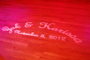 GOBO ON DANCE FLOOR || Rent online at rentmywedding.com. FREE shipping nationwide! Easy DIY setup.