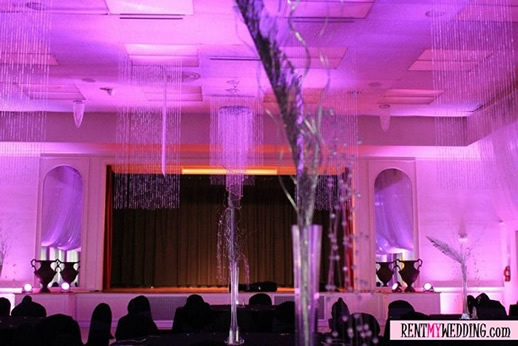 FUSCHIA UPLIGHTING || Rent online at rentmywedding.com. FREE shipping nationwide! Easy DIY setup.