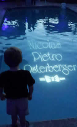 Pool Gobo | Rent online for $99/each + free shipping both ways at www.RentMyWedding.com
