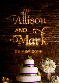 Allison And Mark Gobo Lighting Free Shipping Nationwide With My Wedding Easy
