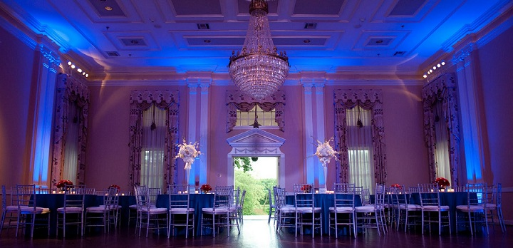 pink up lights, up light, up lighting, uplighting, wedding